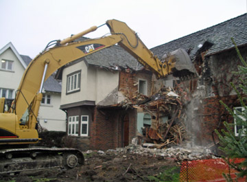 Demolition of 66 Baby Point Road - 2010
